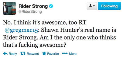 Rider Strong s 18 Best Responses To Tweets About Himself