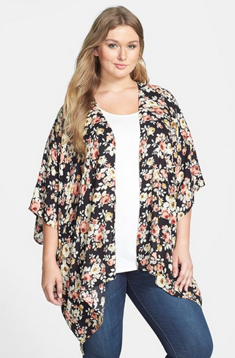 Forgotten Grace Print Kimono  Plus Size    Nordstrom